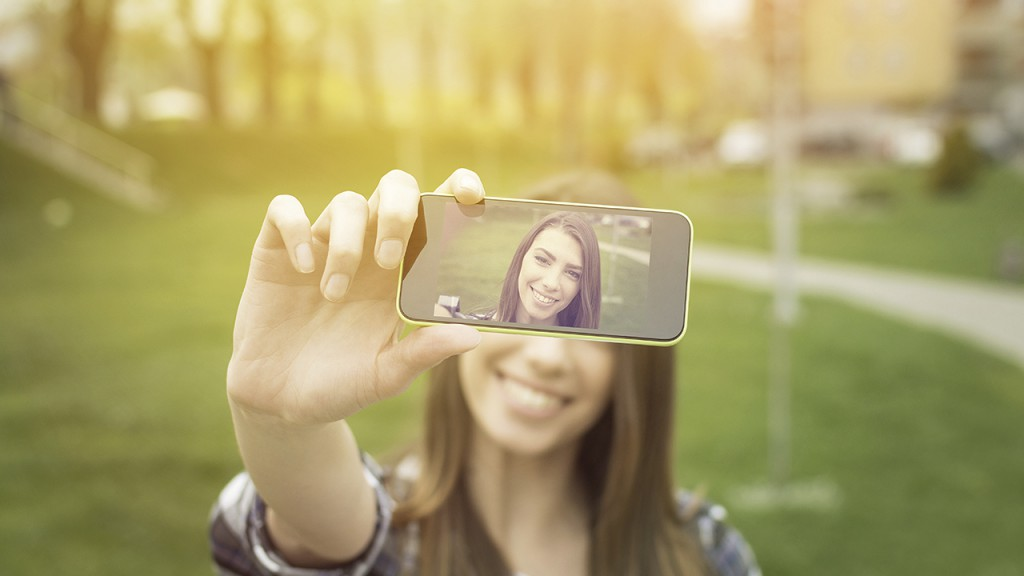 Influencer selfie